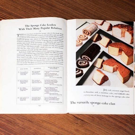 vintage dessert pamphlets spongecakes
