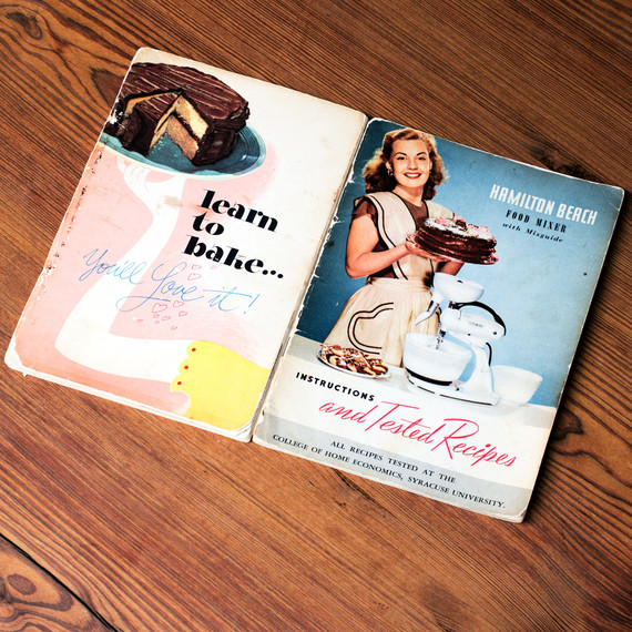 vintage dessert pamphlets cover with chocolate cake