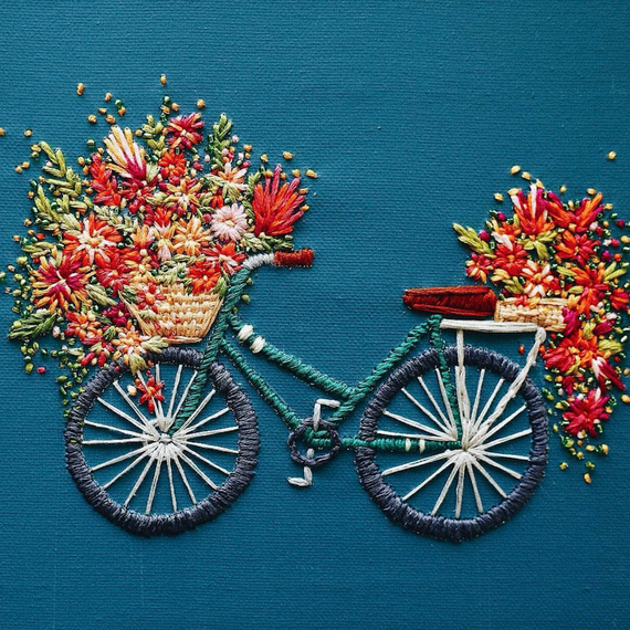 Walker Boyles embroidered bicycles