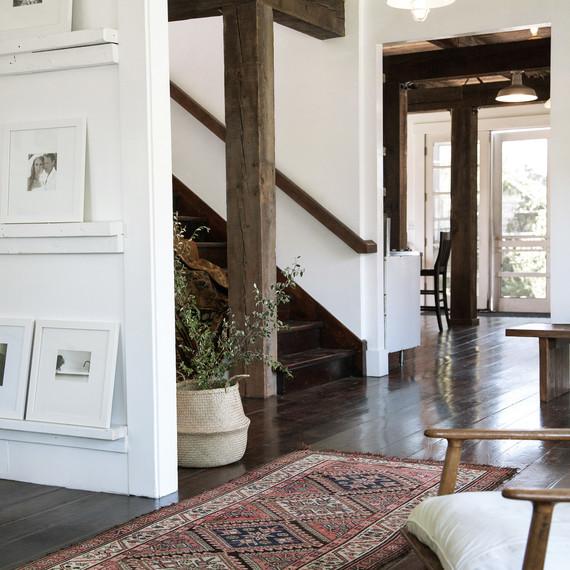 frances loom rug entryway