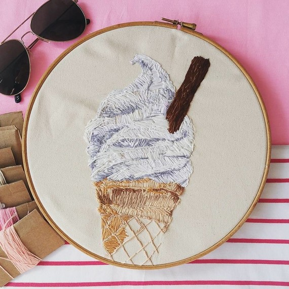 embroidery-food-ice-cream