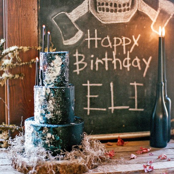 eli lumberjack birthday party black cake