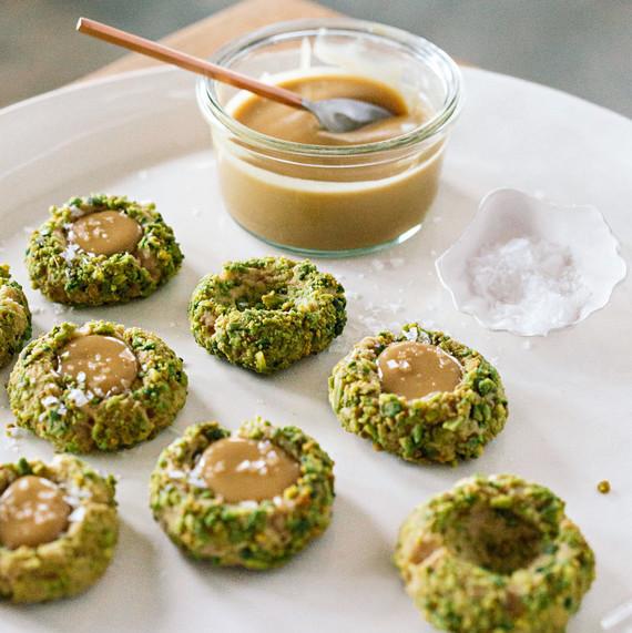 maple pistachio thumbprints