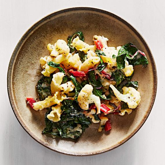 cauliflower swiss chard bake