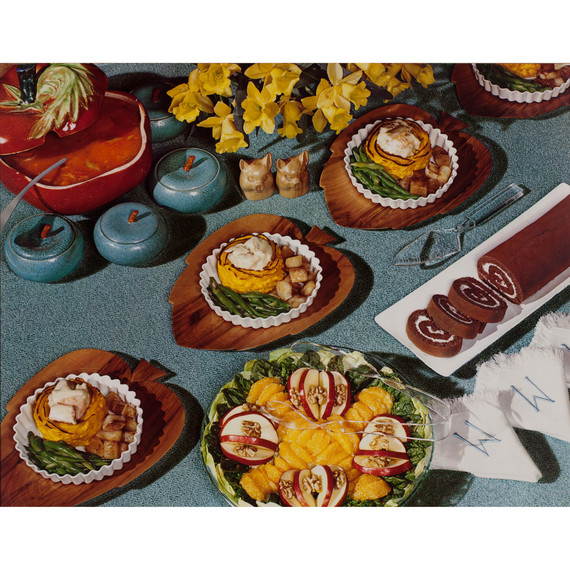 Nickolas Muray, Food Spread, Daffodils, McCall's magazine, ca. 1946; from Feast for the Eyes (Aperture, 2017)