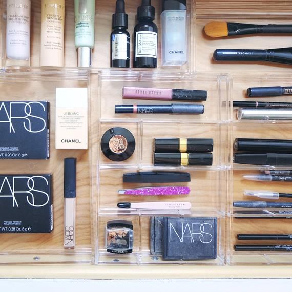 makeup drawer organization nars products