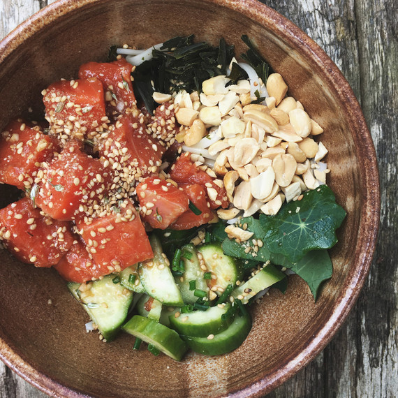 salmon poke bowl