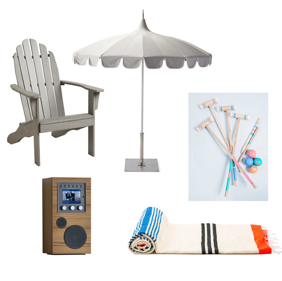 summer entertaining products sun towel umbrella