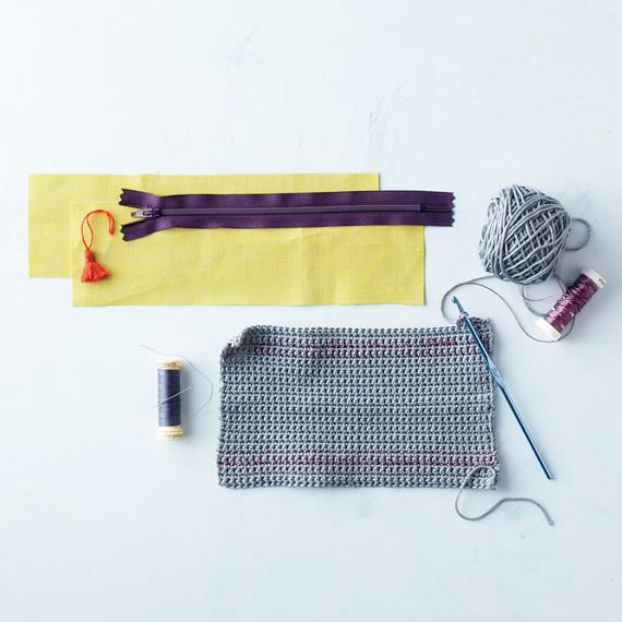 A close-up of Irish lace crochet.