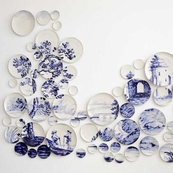 "Molly Hatch ceramics ""Caughley Landscape"""