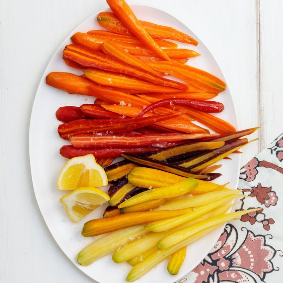 Steamed Carrots with Lemon and Sea Salt