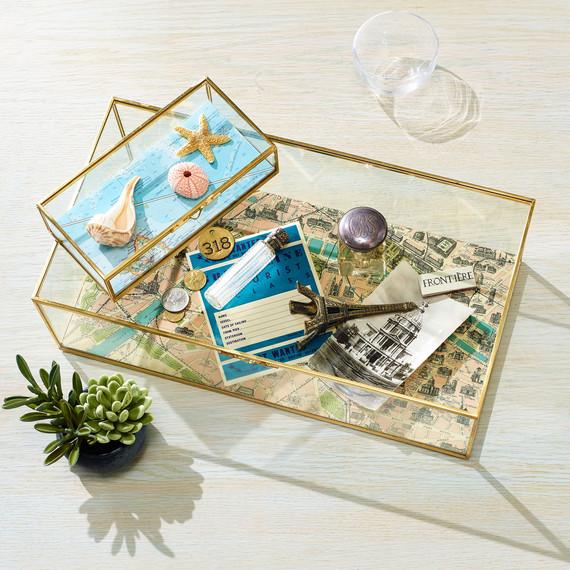 vacation memory box coffee table