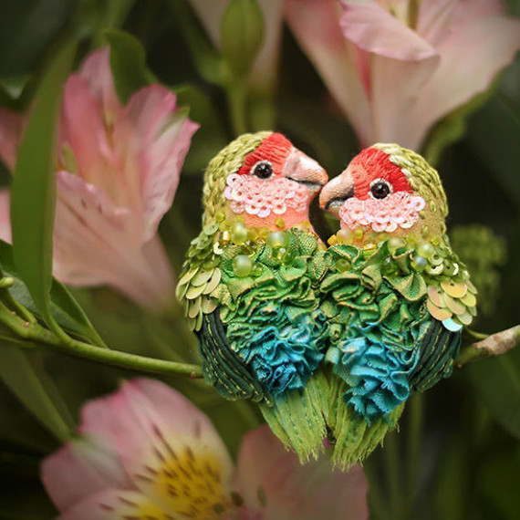 beaded birds by Julia Gorina