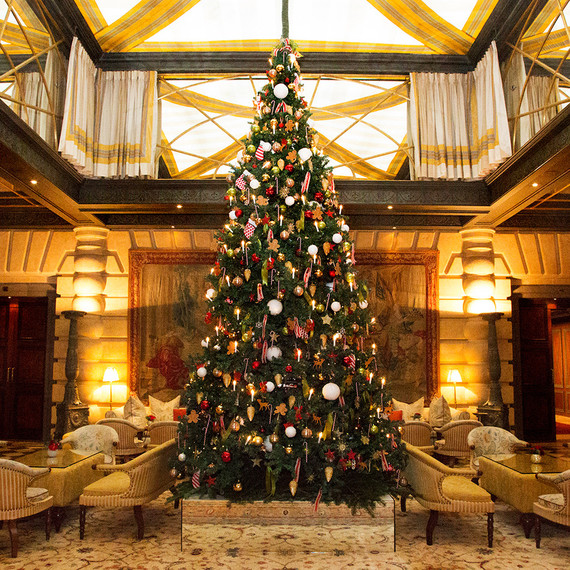 hotel metropole valeria maselli holiday decor - Over The Top Christmas Decorations