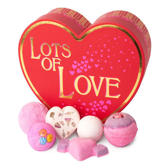 "Lush Valentine's Day ""Lots of Love"" gift package"