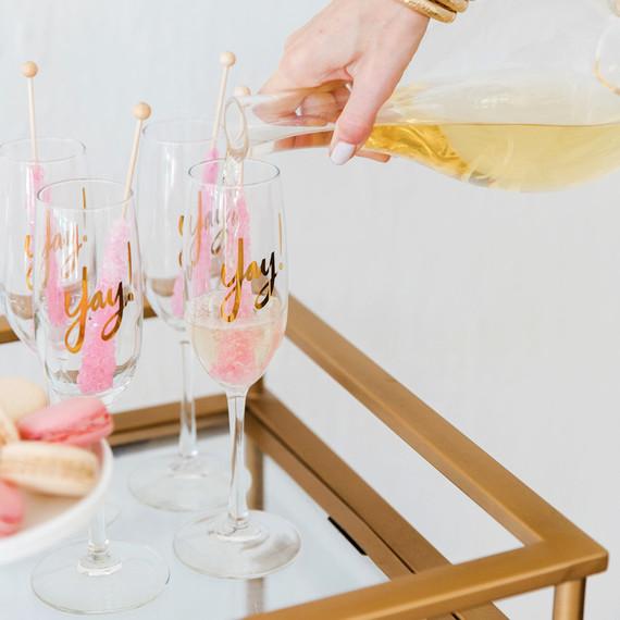 valentine's day bar cart