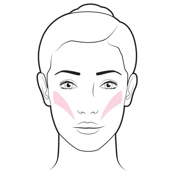 blush defined cheekbones illustration