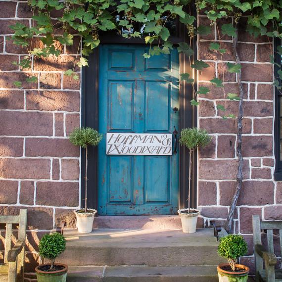 hoffman woodward blue door