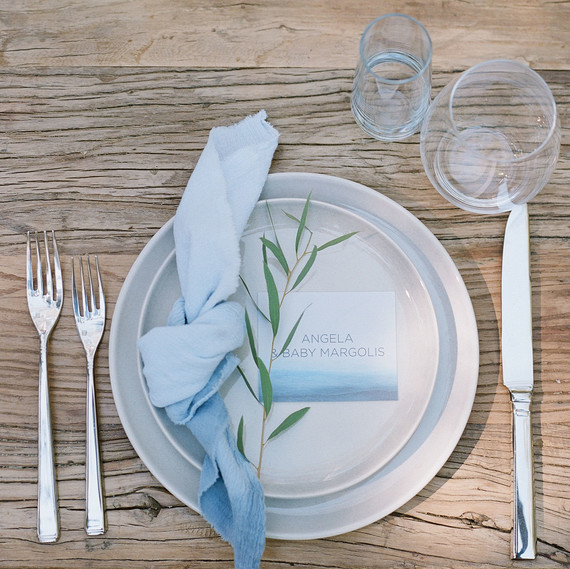 baby shower placesetting