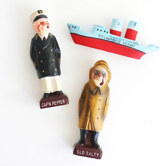 sea vintage salt and pepper shakers