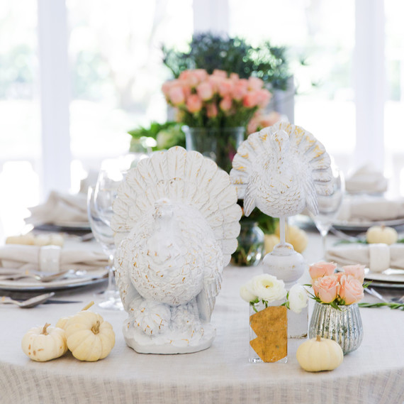 fashionable hostess modern thanksgiving table