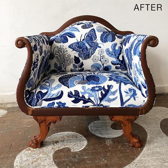 furniture makeover after settee