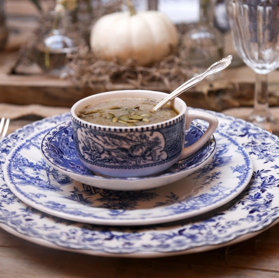 soup in teacup