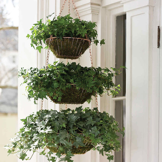 landscaping trends stacked basket planters
