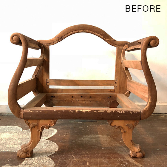 furniture makeover before settee