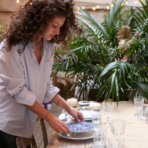 elisa marshall setting a table