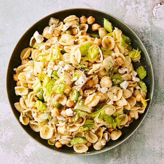 Orecchiette, Celery, and Olive Salad