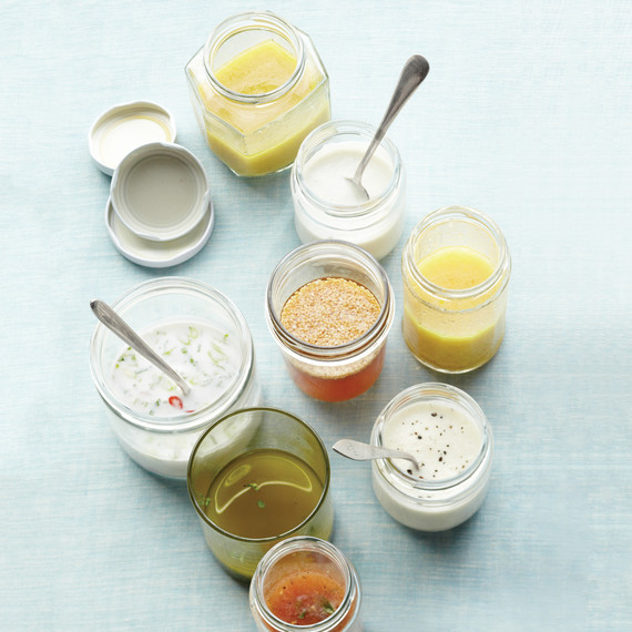 jars of salad dressings