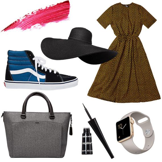 dress sunhat shoes apple watch eyeliner