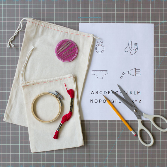 embroidered travel bags diy gifts materials