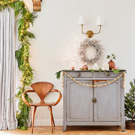 emily henderson christmas decor white wreath