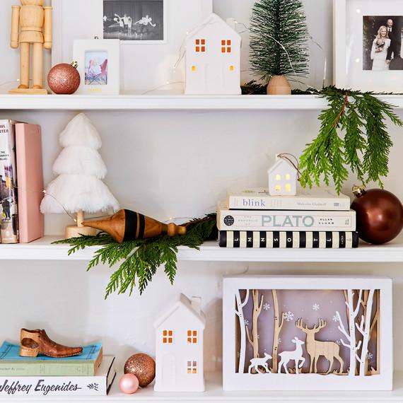 emily henderson target holiday decor shelf