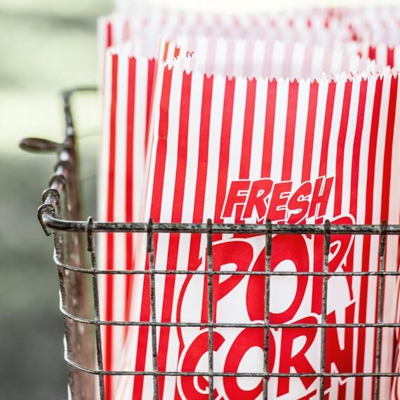 vintage pop corn bags