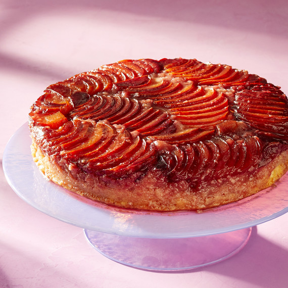 Everyone Will Flip for This Super-Ornate Plum Upside-Down Cake