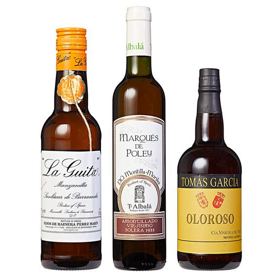 bottles of spanish sherry
