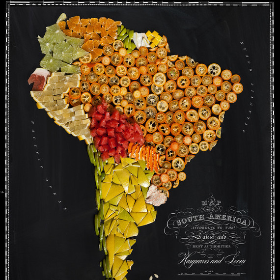 food map south america