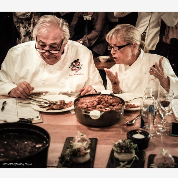 chefs jean michel cazes and sara moulton
