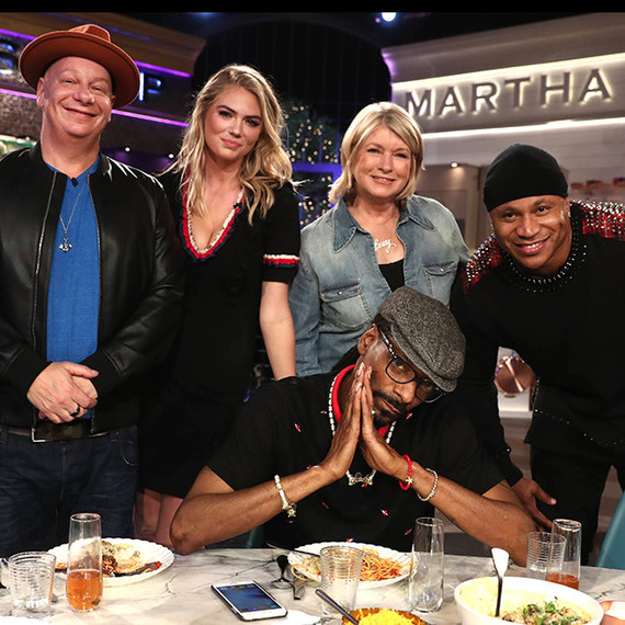 Martha and Snoop with LL Cool J, Kate Upton, Jeff Ross