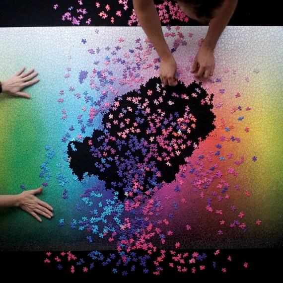5,000-piece rainbow puzzle