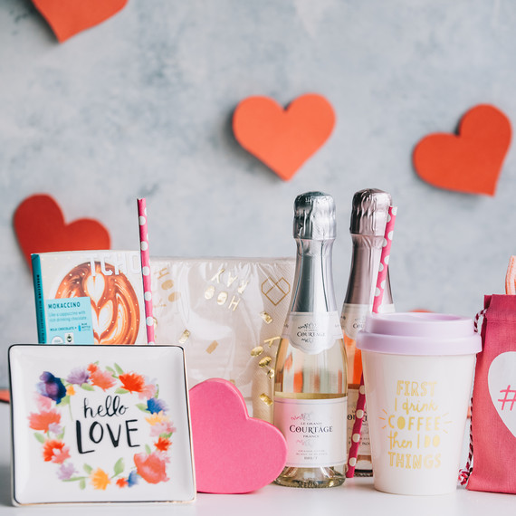 5 Cute Ideas For A Valentine S Day Gift Basket Martha Stewart