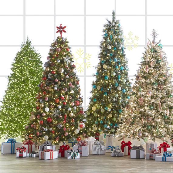 home depot christmas trees