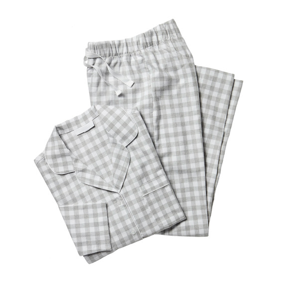 brushed cotton gingham pajama set gift