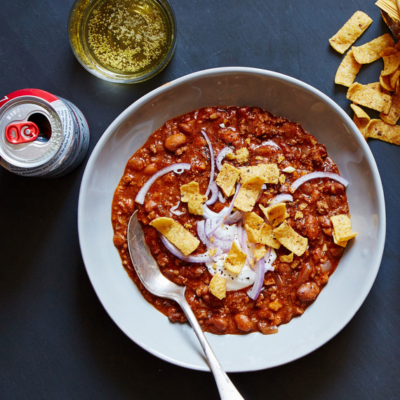 Hearty chili, one of Martha & Marley Spoon's Super Bowl offerings
