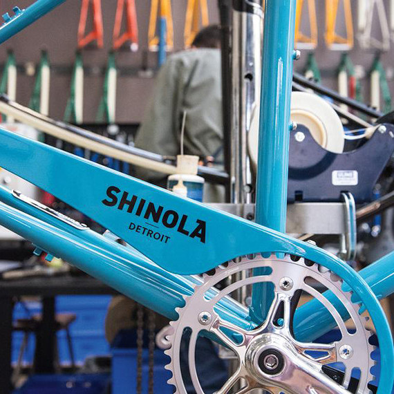 blue Shinola bike