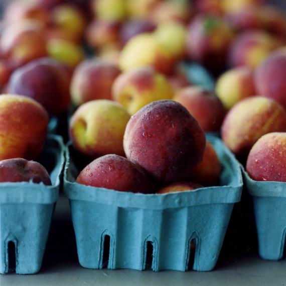 Cartons of peaches