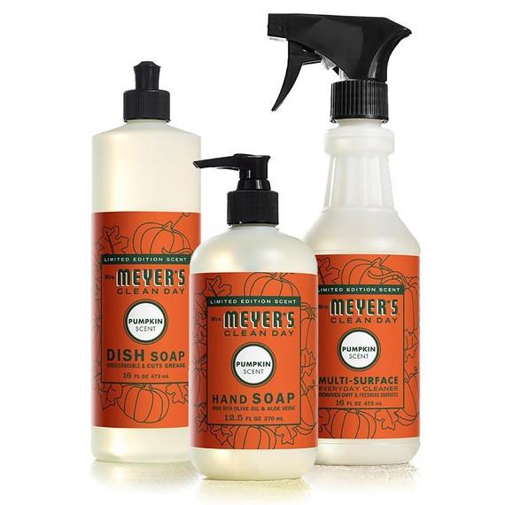 mrs meyers pumpkin collection fall soap